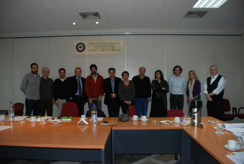First scientific committee meeting <br>Mediterranean Agronomic Institute of Chania 26/2/2009