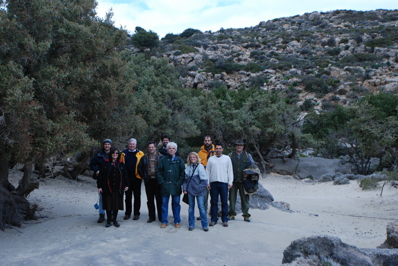 Field trip with scientific committee in Kedrodasos <br>27/2/2009