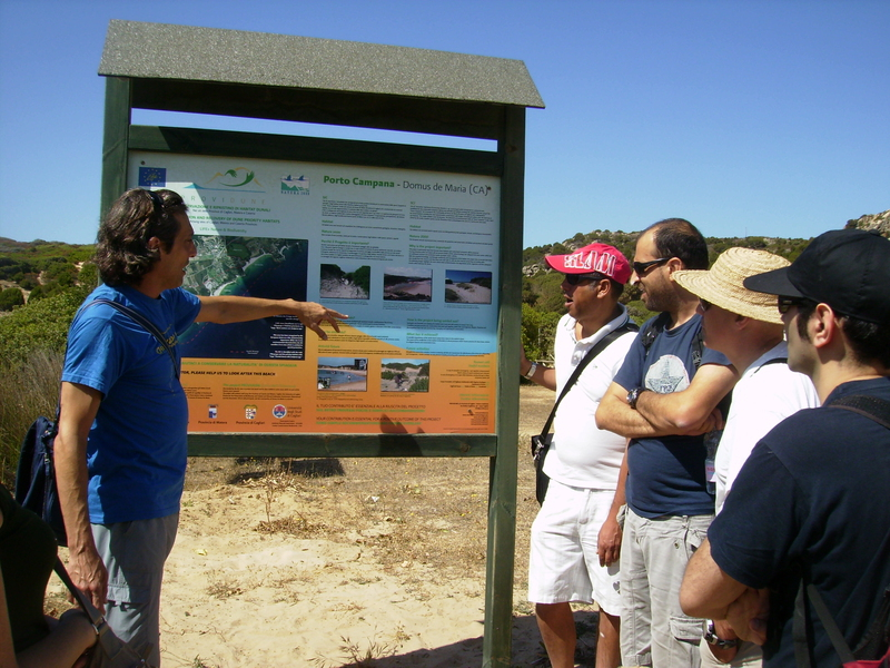 Field visit to Chia site (Sardinia), June 2012