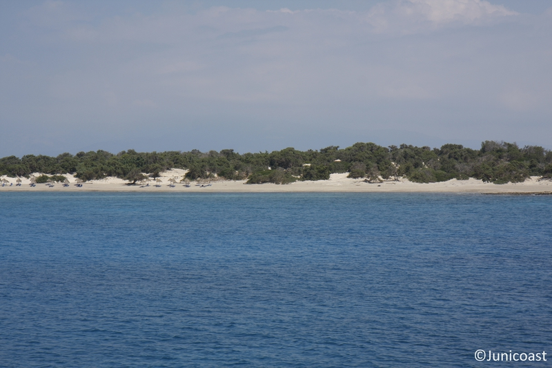 Coastal dunes with Juniperus spp., May 2011<br>View from boat