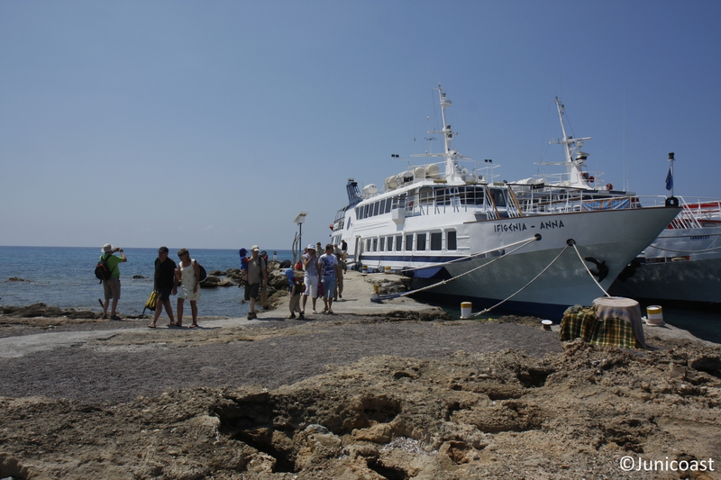 Visitors arriving in Chrysi, May 2011